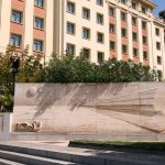 Estatua del Banco Sabadell a Madrid