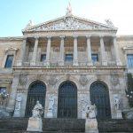 Detalle de la entrada a la Biblioteca Nacional