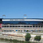 Estadio Vicente Calderón desde el puente de Toledo