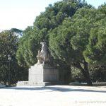 Estatuas en los jardines de Sabatini