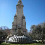 Monumento a Cervantes, vista posterior