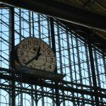 Detalle del reloj de Principe Pio