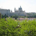 Vista del Palacio Real desde el templo de Debod