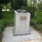 Monumento de la feria del Libro a Tierno Galván