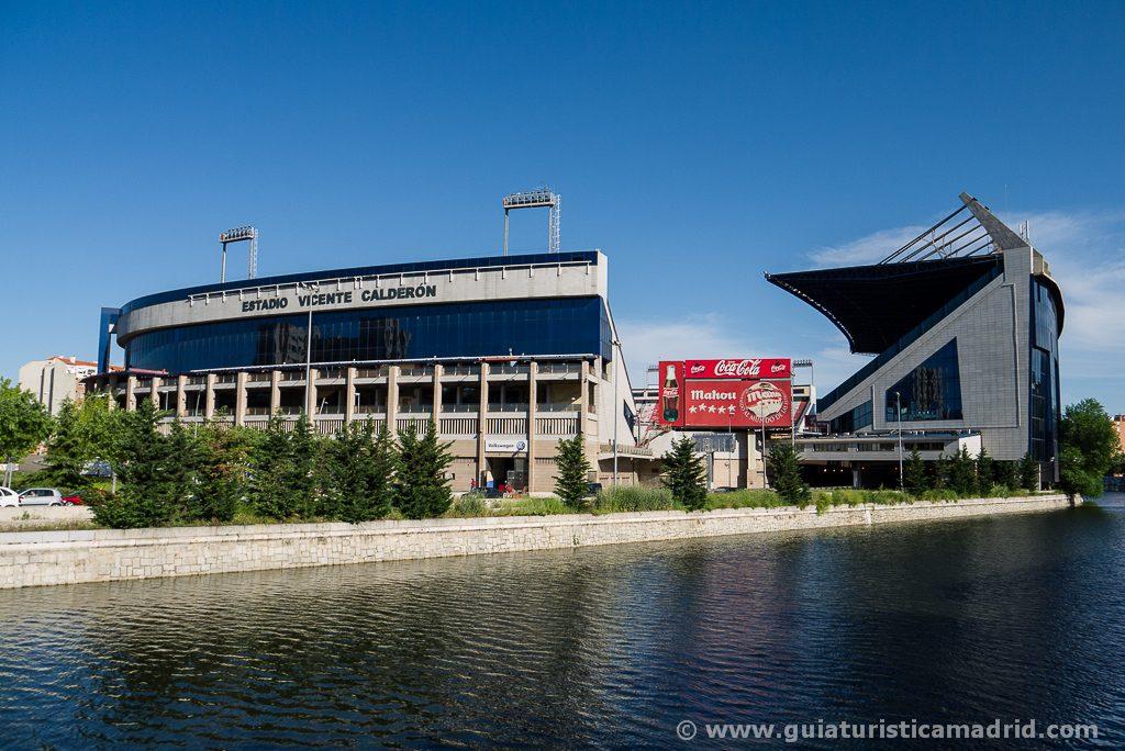 Estadio Vicente Calderón desde Madrid Río