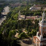 Museo del Traje, de América y Ciudad Universitaria desde el Faro de Moncloa