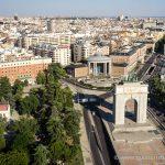 Vista del centro de Madrid desde el Faro de Moncloa