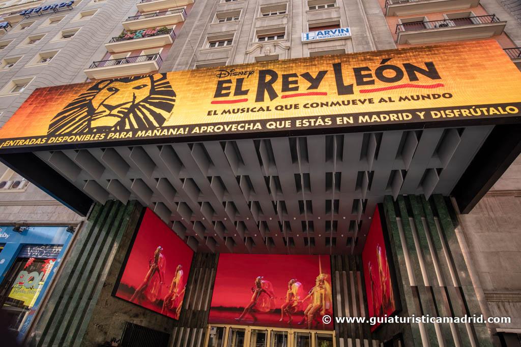 El Rey León, en la Gran Vía
